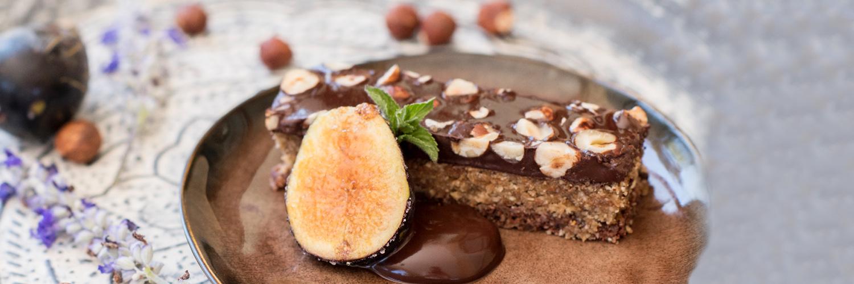 Cocoa tart activated buckwheat healthy recipe cal reiet hotel mallorca