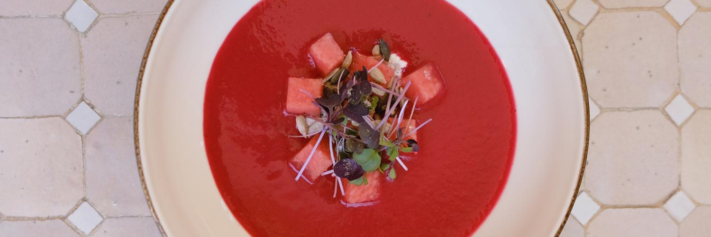 healthy recipe watermelon gazpacho cal reiet hotel santanyi mallorca